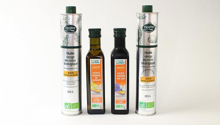 monassiette huile Les huiles d'assaisonnement
