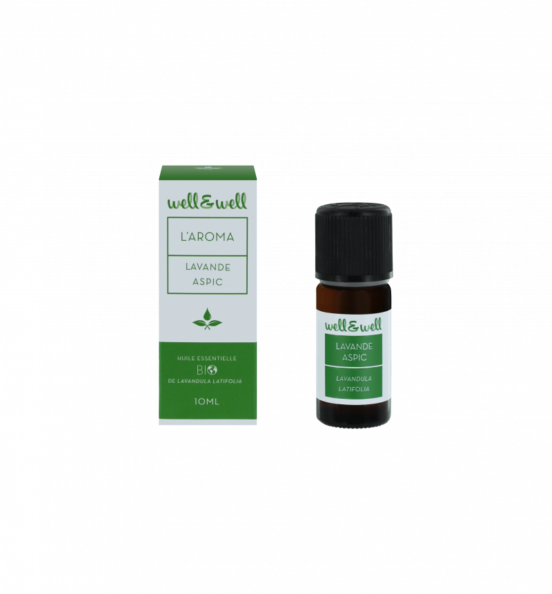 Huile essentielle bio de lavande aspic well&well