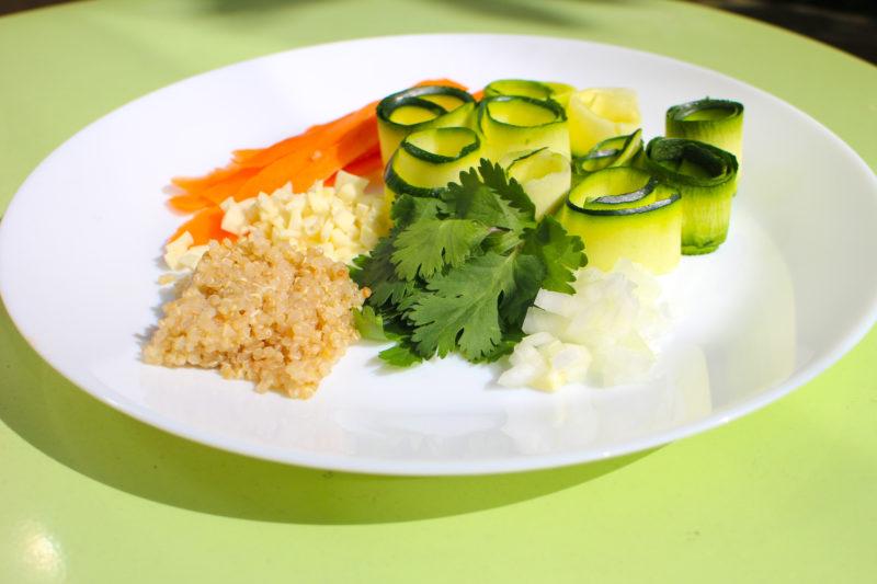 courgette quinoa carotte wellandwell vegetarien 1 e1575292329322 Une journée végétarienne